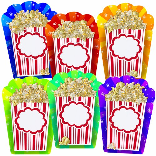 Bulletin Board Accents Popcorn Buckets, 36 Count, Assorted Colors and Sizes - 1