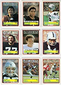 Los Angeles Raiders 1983 Topps Football Team Set (15 Cards) (PLUS RECEIVE A FREE... by Topps