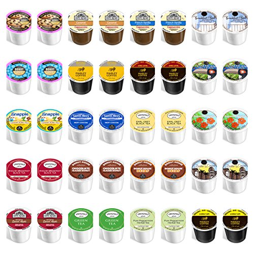 40-count - NEW Everything Variety Pack for Keurig® 2.0 Brewers - Featuring coffee, decaf, flavored, tea, cider, hot chocolate, snapple & cappuccino (Keurig Coffee And Tea Pods compare prices)