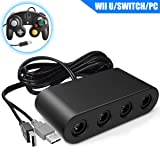 Switch Gamecube Controller Adapter, Super Smash Bros Gamecube Adapter for Nintendo Switch, Wii U and PC USB with 4 Ports - Plug & Play, No Drivers Needed (Tamaño: gamecube adapter)
