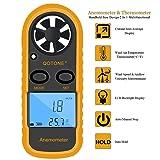 Qotone GM816 Digital Anemometer Wind-Speed Gauge Meter LCD Handheld Airflow Windmeter Thermometer (Tamaño: 1)
