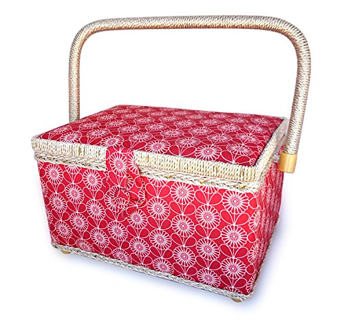 Lowest Price! bbloop Vintage Sewing Basket (med) w/ Notions