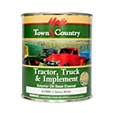 Majic Paints 8-0990-2 Town & Country Tractor, Truck & Implement Oil Base Enamel Paint, 1-Quart, White (Color: Gloss White, Tamaño: Quart)