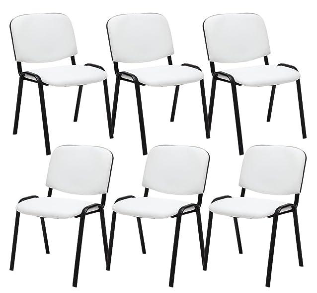6th set sedia da attesa Ken Kunstleder bianco