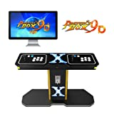 TAPDRA Pandora's Box 9D Vintage Retro Arcade Cabinet Machine with 2222 Games 2 Players Joystick HDMI and VGA 1280x720P HD Full-Size Commercial Wooden Console (with Coin Function) (Color: Wired, Tamaño: Pandora's box 9D)