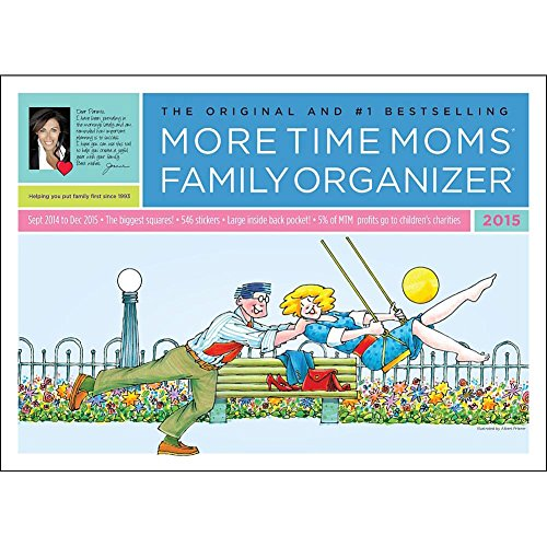 Family Organizer 2015 More Time Moms Award Winning Deluxe Wall Calendar – Get Your Family Organized image