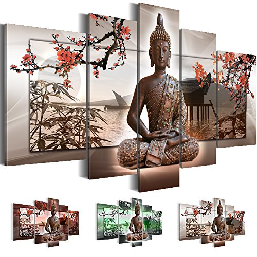 bilder xxl 5032527c bild auf leinwand buddha 170 x 100 cm leinwand wandbild feng shui 3. Black Bedroom Furniture Sets. Home Design Ideas