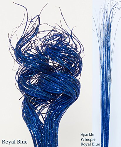 GreenFloralCrafts 2 Ft Sparkle ROYAL BLUE Curly Ting, Pk of 60-70 & Blue Sparkle Wispies