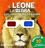 Leone Zebra Gli Animali Savana