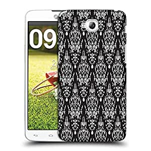 Snoogg White Pattern Designer Protective Phone Back Case Cover For LG G Pro Lite