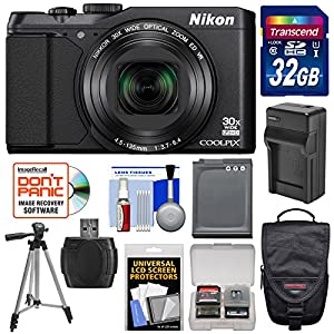 Nikon Coolpix S9900 Digital Camera with 32GB Card + Kit (Certified Refurbished)