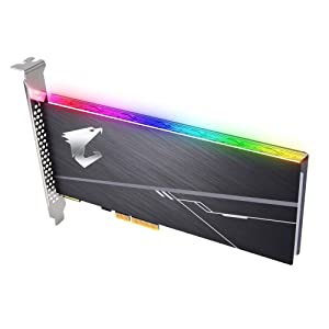 GIGABYTE AORUS RGB Nvme Add-in-Card 512GB High Performance Gaming, Integrated Heatsink, Toshiba 3D NAND, DDR Cache Buffer Memory, 5 Year Warranty SSD GP-ASACNE2512GTTDR