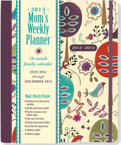 Art Handler Calendar : Folk art birds mom s weekly planner month