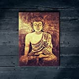 "Nish! 'Religious & Spiritual' Collection | Gutama Buddha Art On Wood | Wooden Wall Decor Hanging Painting Wooden (MDF Wood, 18""x24"", UV Cured, 1 Piece) For Living Room, Drawing Room, Temple, Home, Gift"