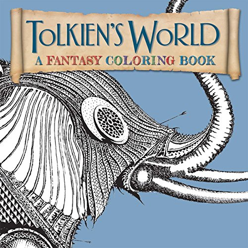 tolkiens world a fantasy coloring book paperback - Lord Of The Rings Coloring Book