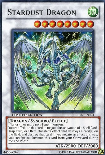 YuGiOh PROMO STARDUST DRAGON super CT07-EN021