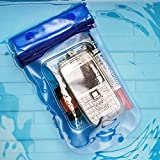 Drift/ Diving micro single SLR camera waterproof case/ Card/ Sundry dry bag, blue, button Mobile phone