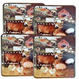 Reston Lloyd Gas Burner Covers Set of 4 Barnyard