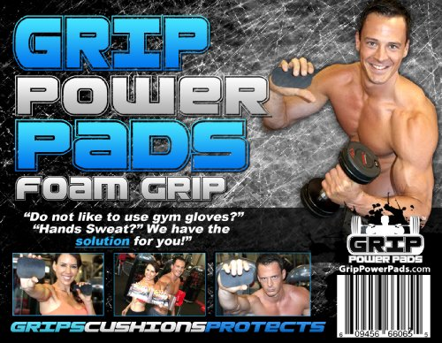 Foam GRIP POWER PADS - Weight Lifting Grip Gloves, Anti-Slip Grip Wrap Support System