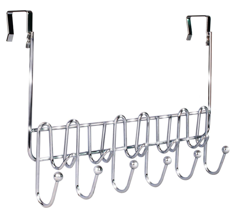 Over the door 6 hook hanger organizer hanging coat rack for 12 hook over the door coat rack