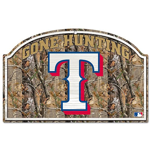 MLB Texas Rangers 11-By-17-Inch Real Tree Wood Sign at Amazon.com