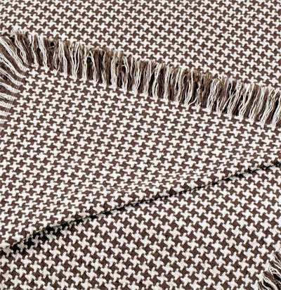 Brown Hanover Houndstooth Eco2Cotton Hemingway Afghan Throw Blanket 50