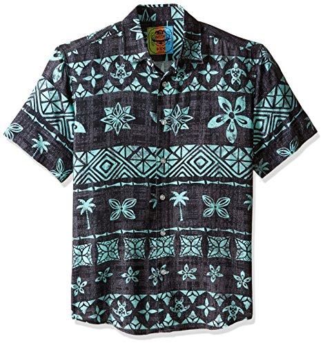 Margaritaville Men's Tapa Stripe Bbq Shirt, Iron Gate, Medium (Gates Bbq Shirt compare prices)