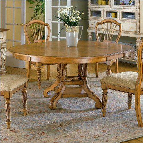 Hillsdale Wilshire Round Casual Dining Table in Pine Finish