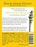 "NV Westport Winery ""Duckleberry Grunt"" Gewürztraminer & Blueberry/Huckleberry wine blend (Benefits the Grays Harbor Ducks Unlimited) 750 mL"