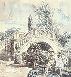 TWICKENHAM: The Garden, York House. London. By Walter Bayes, old print 1946
