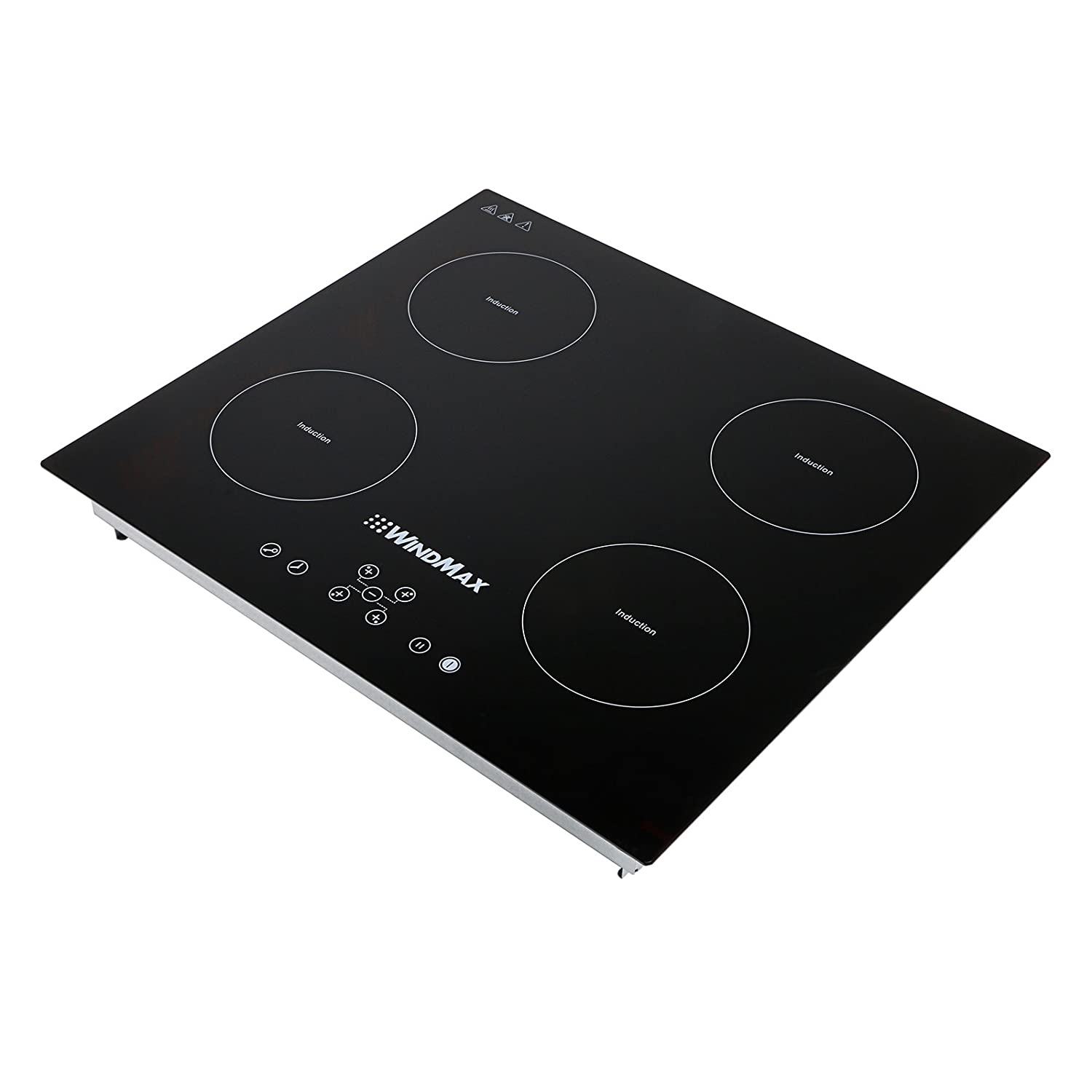 Windnmax 23 in 220V Induction 4 Burners Stoves Glass Plate Kitchen Cooktops 6800W Cooker