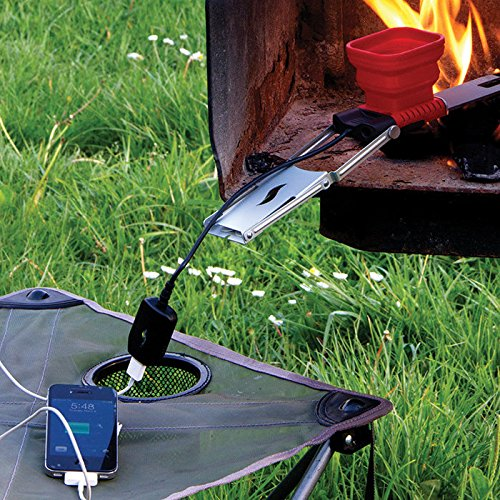 Flamestower Portable Usb Camping Fire Charger, Red/Grey/Black