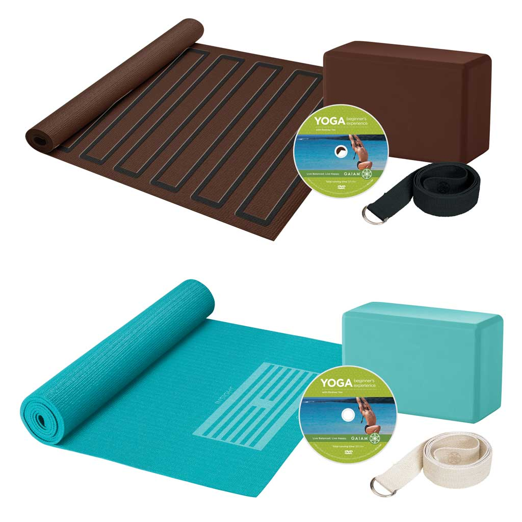 Amazon Com Gaiam Yoga For Beginners Kit Blue Yoga