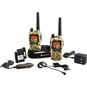 Kit de radios Midland GXT895VP4 de 42 canales, color Mossy Oak Camo, GMRS con alertas de clima NOAA y alcance de 36 millas.