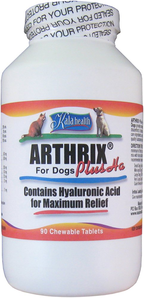 Kala Health - Arthrix Plus with Hyaluronic Acid (90 Chewable Tablets). All US-Made Ingredients: MSM, Vegetarian Glucosamine, Chondroitin, Hyaluronic Acid, Cetyl Myristoleate, Vitamin C as Ester C and Trace Minerals). Powerful Joint Support Supplement Gua glucosamine chondroitin msm 300 таб