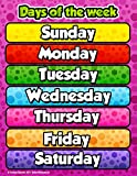 Days of the Week Chart by School Smarts ●Durable Material Rolled and SEALED in Plastic Poster Sleeve for Protection. Discounts are in the special offers section of the page.