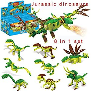 .com: 8 Piece/ Lot Lego Compatible Dinosaur Jurassic World Dinosaurio