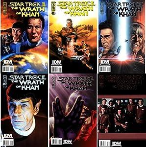 Star Trek II The Wrath of Khan #1-3 (2009) IDW Comics Complete Limited Mini Series - 6 Comics