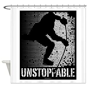 CafePress Unstoppable Shower Curtain - Standard White