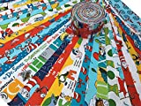 DR. SEUSS Jelly Roll 2.5-inch Fabric Quilting Strips Assortment