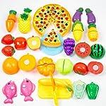 Toy Food, Finer Shop 24Pcs Plastic Fr...