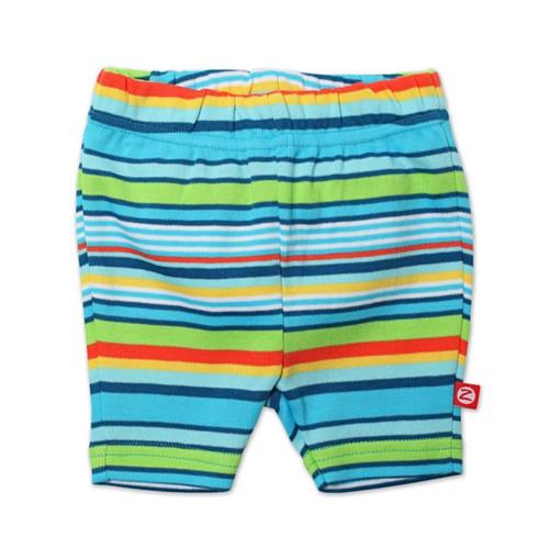 Zutano Baby-girls Infant Pool Stripe Bike Shorts, Multi, 6 Months