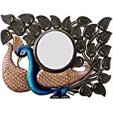 Divraya Wood Peacock Wall Mirror (60.96 Cm X 4 Cm X 45.72 Cm)