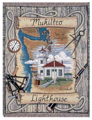 Mukilteo Lighthouse Tapestry Throw Blanket