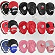 Lions Curved Focus Pads Hook & Jabs Gloves Punch Bag Mitts Boxing MMA Kick Training (Black)