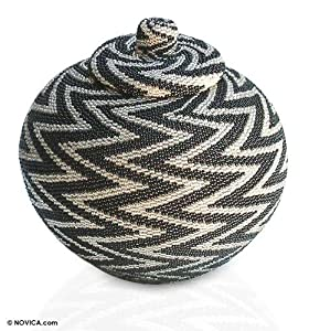 Night Thunder Beaded Basket: Home & Kitchen