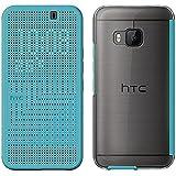 HTC Ice Premium Dot Etui avec Fonction Marche/Arrêt pour HTC One M9 - Turquoise