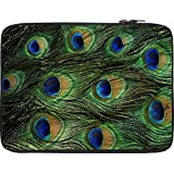 Snoogg Feather Pattern 13 To 13.6 Inch Laptop Netbook Notebook Slipcase Sleeve