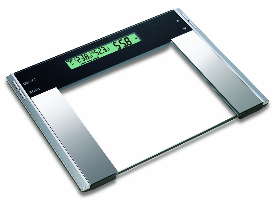 HOMEIMAGE Ultra Wide Glass Body Fat Bath Scale
