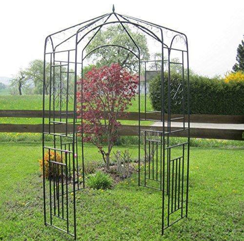 eleganter xxl rosenbogen pergola rosenbogen rankhilfe aus metall schwarz von as s. Black Bedroom Furniture Sets. Home Design Ideas